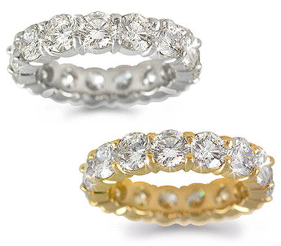 Round Diamond Eternity Band - 5.30 ctw.