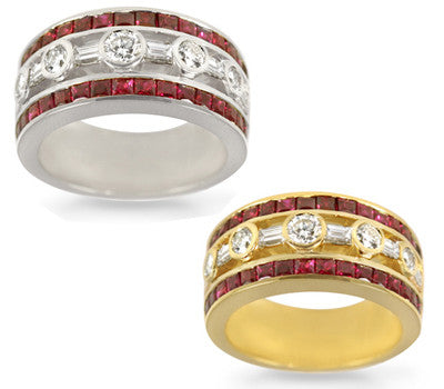 Stunning Ruby & Diamond Band - 1.80 ctw. Rubies