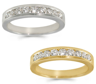 Channel-Set Round-Cut Diamond Band - 0.45 ctw.