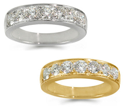 Pave-Set Diamond Ring - 1.05 ctw.