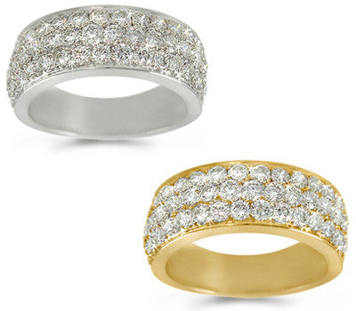 Pave-Set Diamond Band - 1.80 ctw.