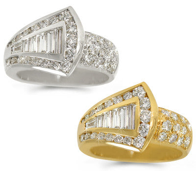 Channel and Pave-Set Diamond Ring - 1.70 ctw.
