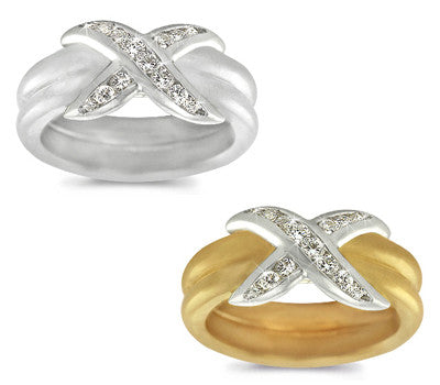 Channel-Set Diamond Double Band - 0.30 ctw.