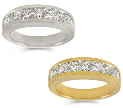 Channel-Set Princess-Cut Diamond Ring - 1.85 ctw.