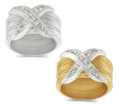 Large Channel-Set Diamond Striped Band - 0.34 ctw.