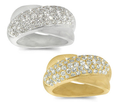 Intertwined Pave Diamond Ring - 1.20 ctw.
