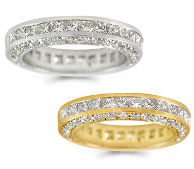 Diamond Eternity Channel and Pave-Set Ring - 2.90 ctw.