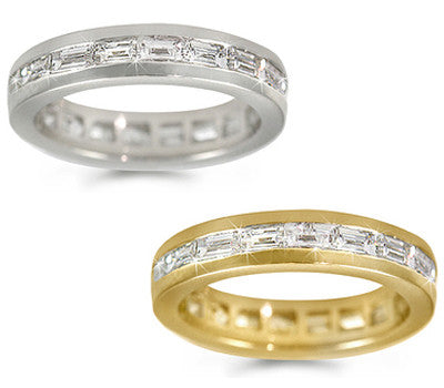 Baguette Diamond Eternity Channel-Set Ring -2.10 ctw.