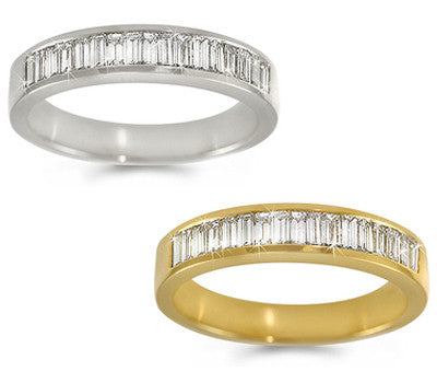 Channel-Set Baguette Diamond Band - 0.65 ctw.