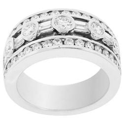 Floating Bezel & Channel Diamond Ring - 1.88 ctw.