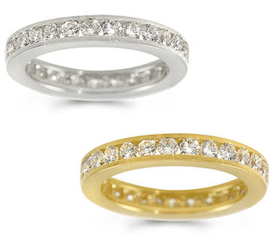 Channel-Set Diamond Eternity Ring - 1.25 ctw.