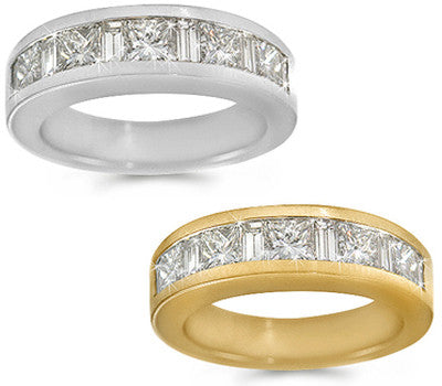 Channel Set Wedding Band - 2.00 ctw.