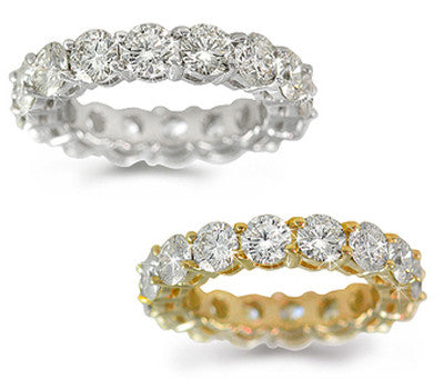 Round Cut Eternity Band - 4.50 ctw.