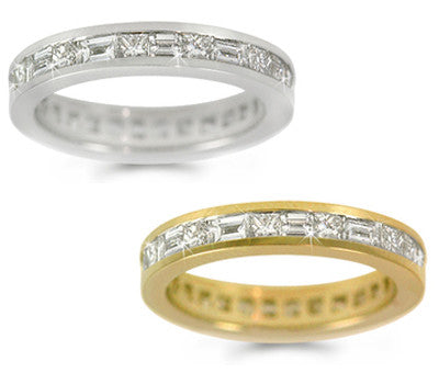Alternating Diamond Eternity Band - 2.00 ctw.