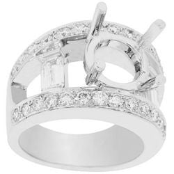 Double Bridge Diamond Semi-Mount Ring - 1.40 ctw.