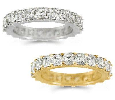 Asscher Diamond Eternity Ring - 3.10 ctw.