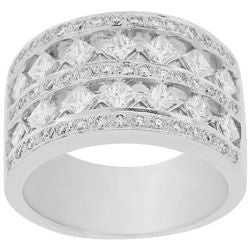 Wide Princess & Round Diamond Band - 1.60 ctw.