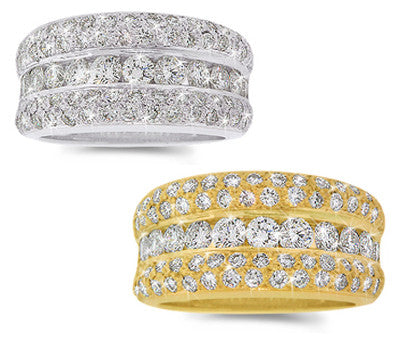 Pave & Channel Round Diamond Band - 1.80 ctw.