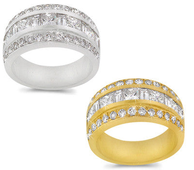 Princess/Baguette Diamond Band - 1.90 ctw.