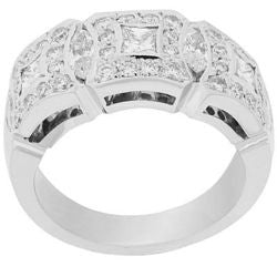 Detailed Diamond Band - 1.40 ctw.