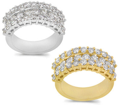 Crown Style Diamond Band - 1.95 ctw.