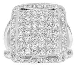 Large Piazza Diamond Ring - 1.95 ctw.