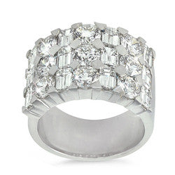 Dazzling, Wide, Emerald and Round Cut Combination Band - 5.30 ctw.