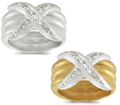 Channel-Set Diamond Triple Band - 0.34 ctw.