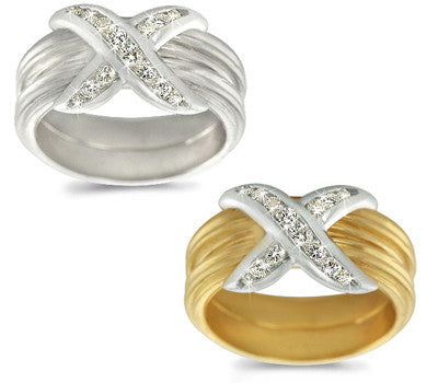 Channel-Set Diamond Striped Band - 0.30 ctw.