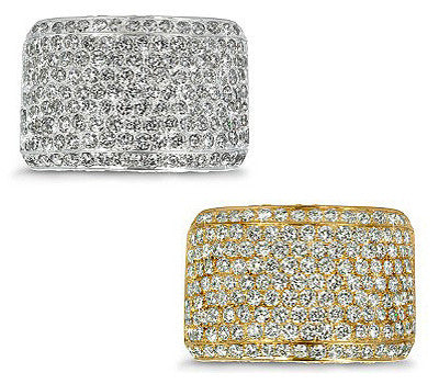 Wide Five Row Pave Diamond Band - 2.70 ctw.