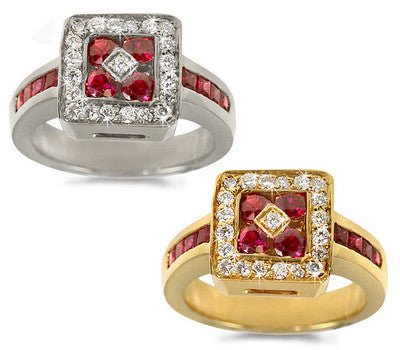 Elegant Ruby & Diamond Ring - 1.15 ctw. Rubies