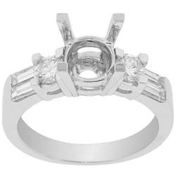 Eva Diamond Semi-Mount Ring - 0.80 ctw.