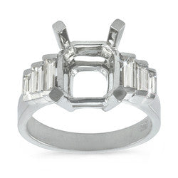 Elegant Graduated Channel Set, Baguette Cut Engagement Ring - 0.60 ctw.