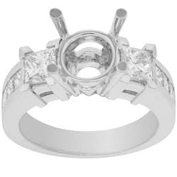 Eight Diamond Semi-Mount Ring - 1.40 ctw.