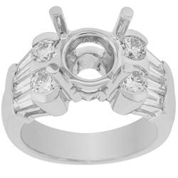 Snowflake Diamond Semi-Mount Ring - 1.60 ctw.