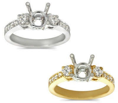Traditional Diamond Prong Engagement Ring - 0.50 ctw.