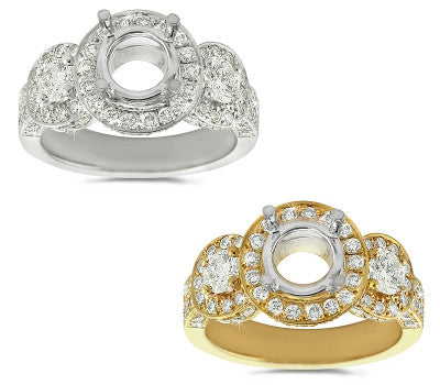Three Section Diamond Ring - 1.35 ctw.