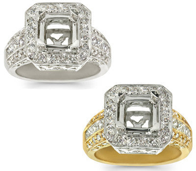 Antique Square Diamond Ring - 1.60 ctw.