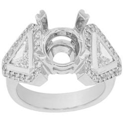Trillion Diamond Semi-Mount Ring - 1.15 ctw.