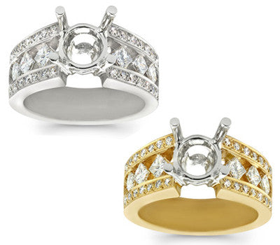 Princess & Round Diamond Ring - 0.95 ctw.