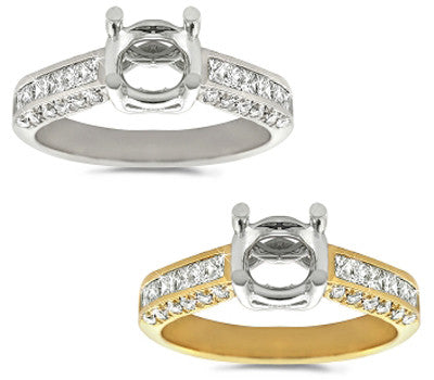 Chic and Delicate Diamond Mounting - 0.70 ctw.