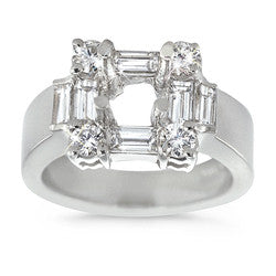 Elegant Square Designed Diamond Ring - 1.30 ctw.