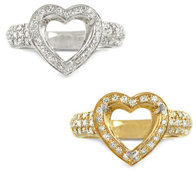 Romantic Heart Shape Diamond Ring - 0.55 ctw.