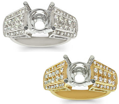 French Pave Diamond Ring - 0.55 ctw.