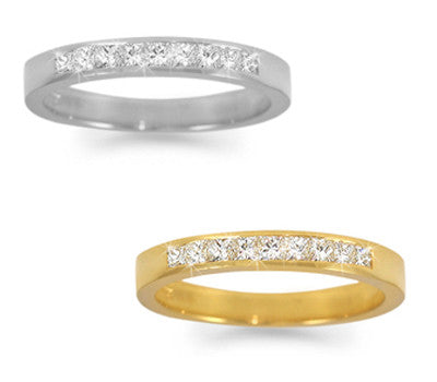 Channel-Set Princess-Cut Diamond Band - 0.40 ctw.