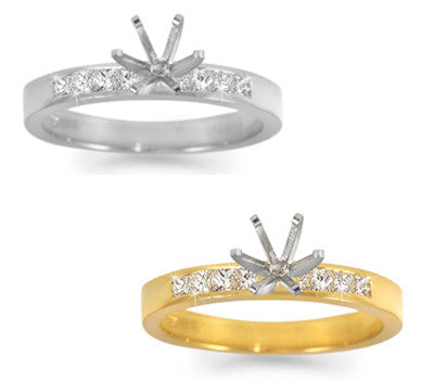 Channel-Set Princess-Cut Diamond Ring - 0.35 ctw.