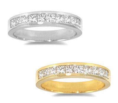 Channel-Set Princess Diamond Band - 0.80 ctw.