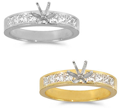 Channel-Set, Princess-Cut Diamond Ring - 0.75 ctw.