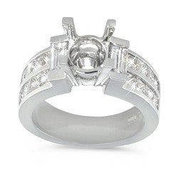 Princess & Baguette Diamond Ring - 1.70 ctw.