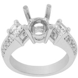 Asscher & Pave Diamond Ring - 0.95 ctw.